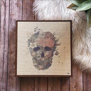 Floral Skull Artwork